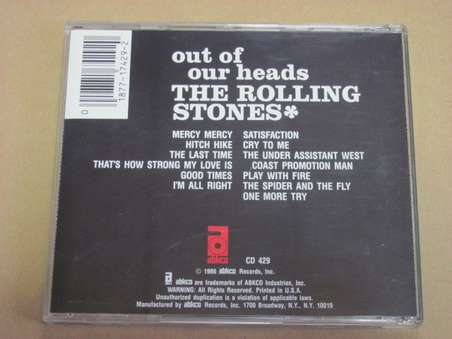 OUT OF OUR HEADS ローリングストーンズ ROLLING STONES CD 輸入盤 西ドイツWEST-GERMANYプレス_画像3