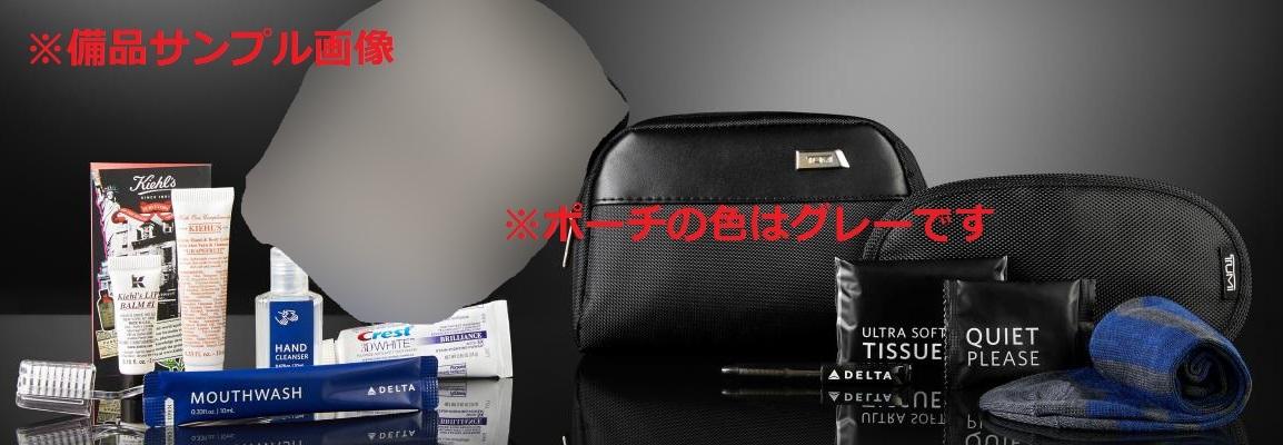 即決 新品 未開封 TUMI × DELTA アメニティー ポーチ グレー 非売品 トゥミ バッグ ポーチ DELTA デルタ 航空_画像5