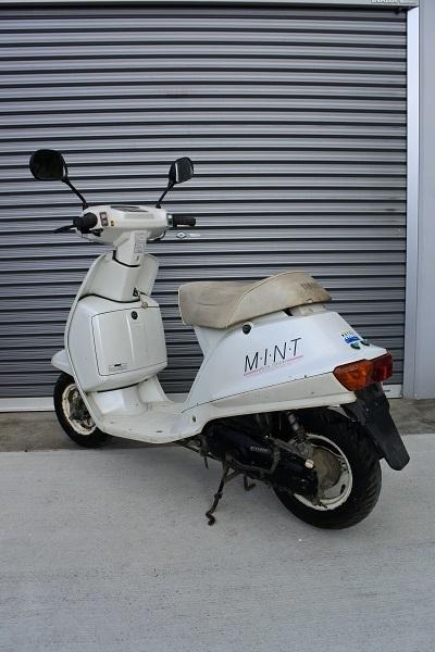 「旧車!ヤマハ・ミント 80年代の2ストスクーター!バッテリー新 実働車 仕上げ、カスタムベースに!!格安原付」の画像3