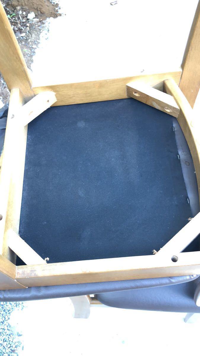 ダイニングチェア 椅子 イス 2脚 引取歓迎_画像9
