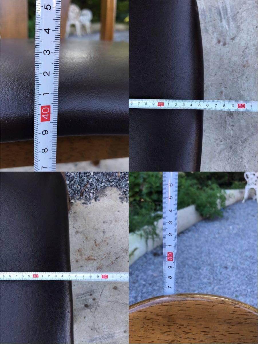 ダイニングチェア 椅子 イス 2脚 引取歓迎_画像6