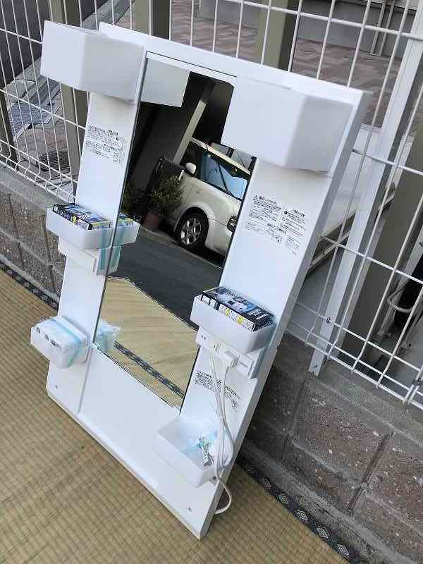 【新品・未使用】LIXIL(リクシル) 手洗台・洗面化粧台・ミラーキャビネット(幅60cm)☆「MFTX-601XF」☆直接引き取り可