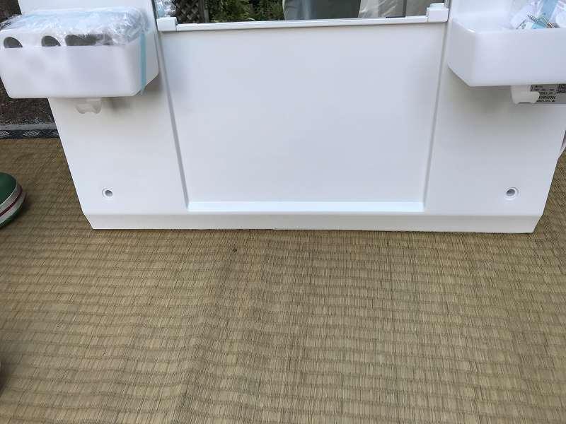【新品・未使用】LIXIL(リクシル) 手洗台・洗面化粧台・ミラーキャビネット(幅60cm)☆「MFTX-601XF」☆直接引き取り可_画像4