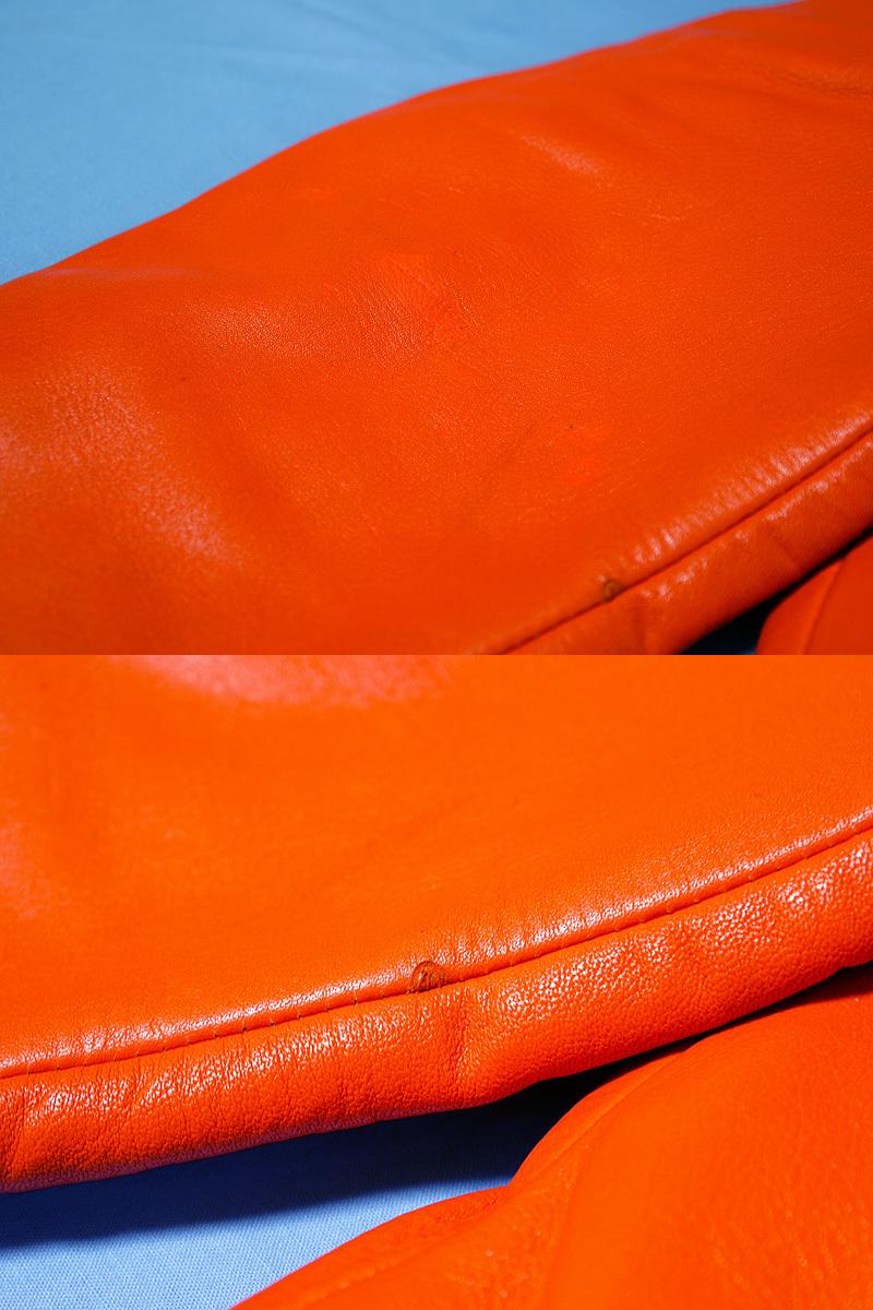 【送料無料】RALPH LAUREN ラルフローレン 本革ライダースジャケット オレンジ S(実質M~Lサイズ) 新品_画像5