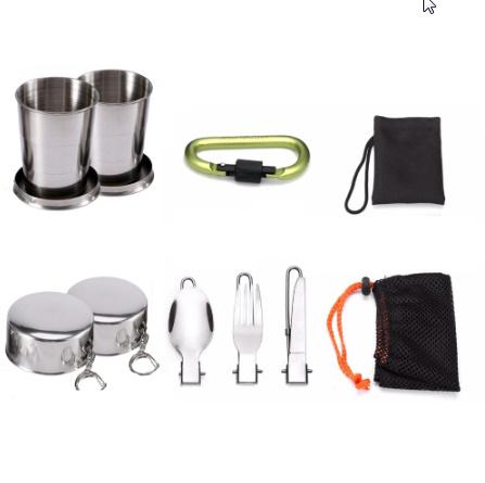 1 セット屋外鍋フライパンキャンプ調理器具ピクニック調理セット k-260_画像4
