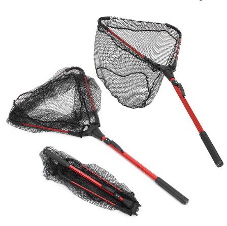 タモ網 80cm引き込み式アルミ合金 超軽量ハンドル 釣りランディングネット k-106_画像2