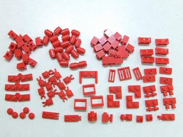 [WT220] 赤 Red 1 x 1パーツ・1 x 2特殊パーツ 種類 色々 約105個セット kg_画像1