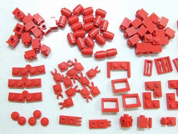 [WT220] 赤 Red 1 x 1パーツ・1 x 2特殊パーツ 種類 色々 約105個セット kg_画像2