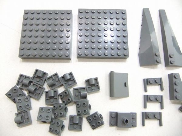 [WT60] 新濃灰 Dark Bluish Gray 大きい 8 x 8ブロック・乗り物系 パーツ 種類 色々 大量 約39個セット kg_画像2