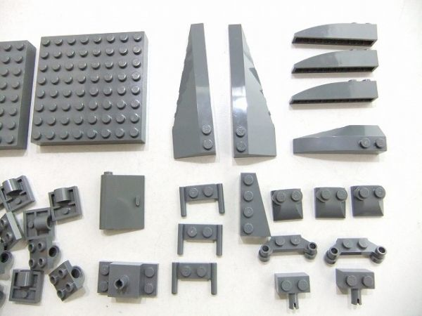 [WT60] 新濃灰 Dark Bluish Gray 大きい 8 x 8ブロック・乗り物系 パーツ 種類 色々 大量 約39個セット kg_画像3