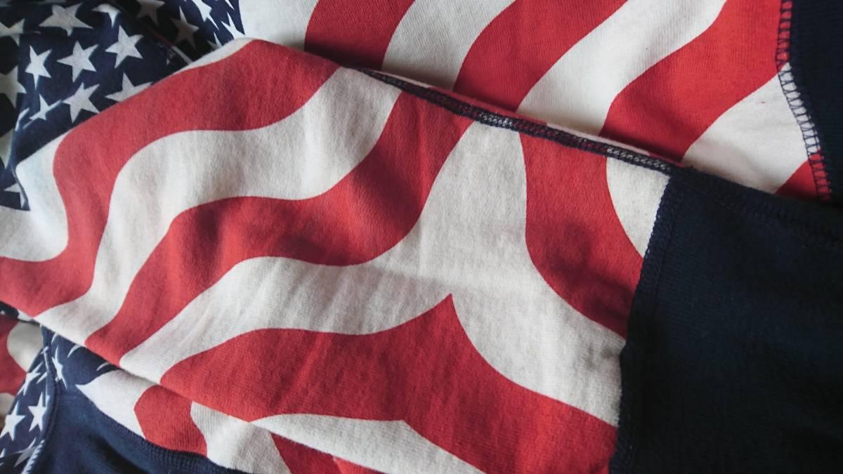 14aw supreme シュプリーム BOX LOGO HOODED SWEATSHIRT PULLOVER FLAG ボックス ロゴ スウェット パーカー 星条旗 size:S_画像8