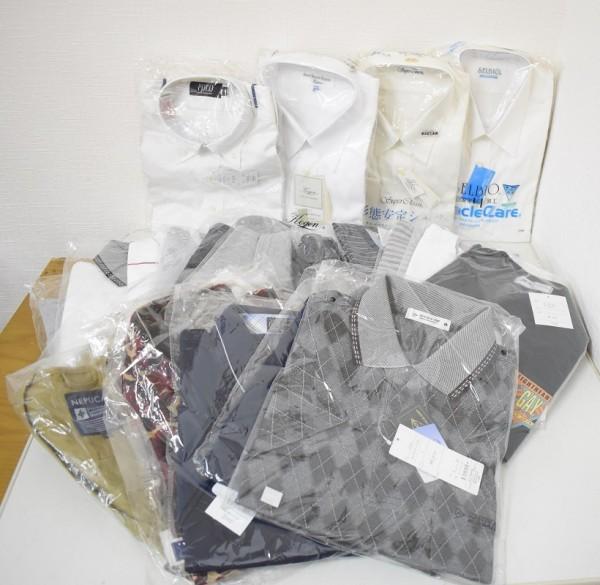 未使用品34点まとめ メンズ Yシャツ Tシャツ ウインドブレーカー NIKE ナイキ DUNLOP ダンロップ M、Lサイズ G-1906