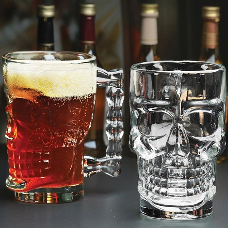 海外発掘品!グラス 骸骨 ドクロ ビール ガラス コップ 赤ワイン ワイン ドリンク ハロウィン インテリア ka49_画像4