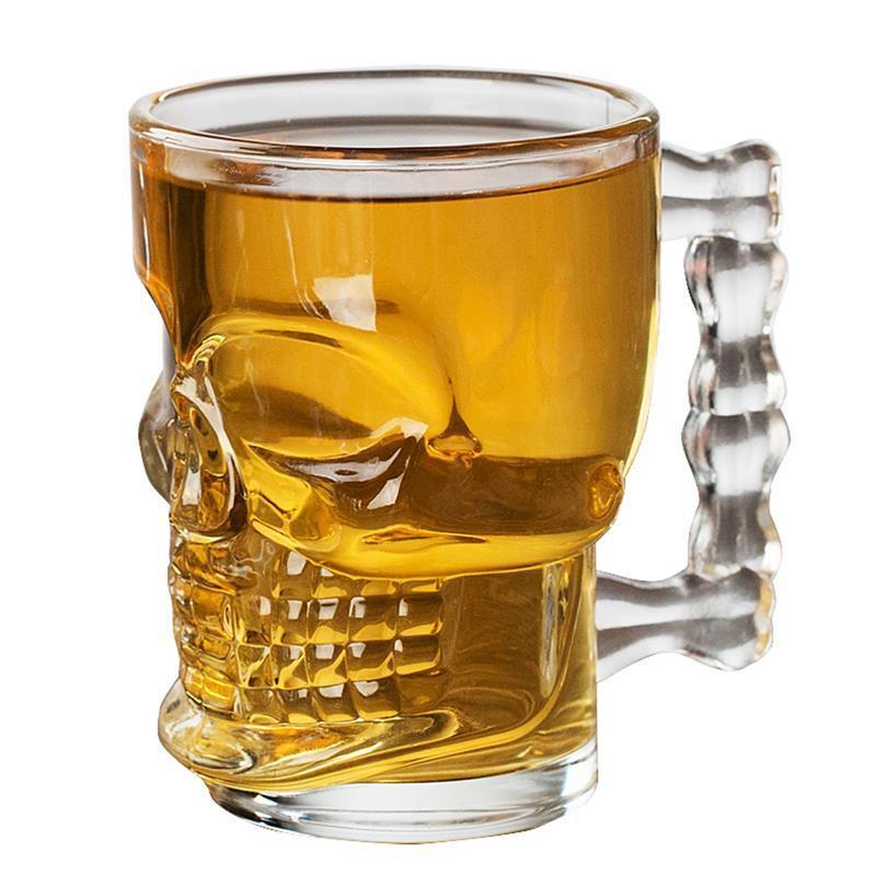 海外発掘品!グラス 骸骨 ドクロ ビール ガラス コップ 赤ワイン ワイン ドリンク ハロウィン インテリア ka49_画像1