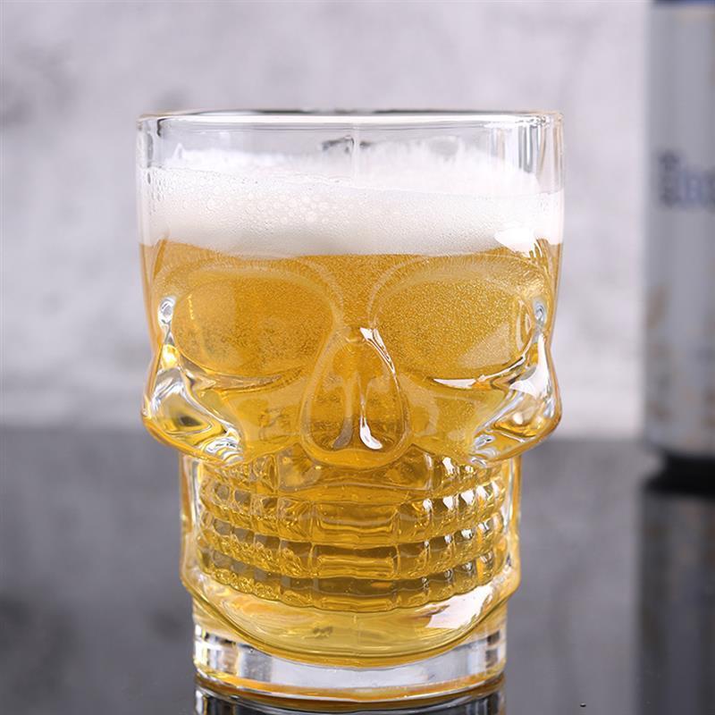 海外発掘品!グラス 骸骨 ドクロ ビール ガラス コップ 赤ワイン ワイン ドリンク ハロウィン インテリア ka49_画像2