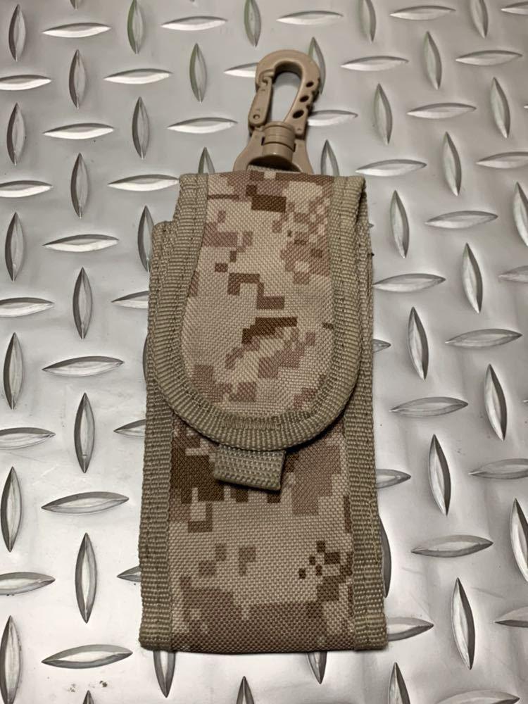 米軍 海兵隊 放出品 ユーティリティ ポーチ デザート ウッドランド バックパック RECON/MARSOC /SARC 携帯電話 USMC _画像1
