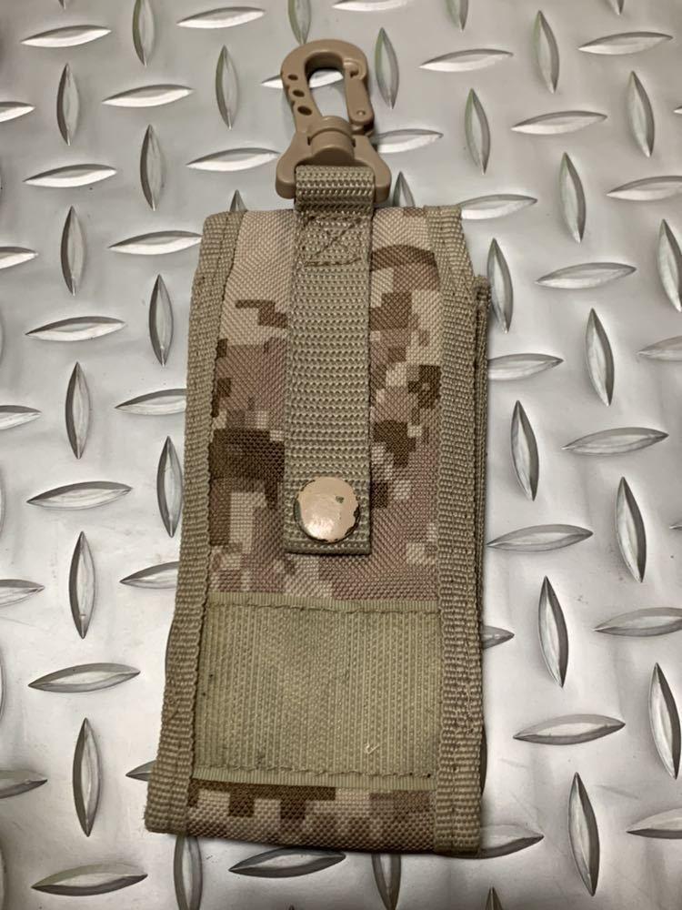 米軍 海兵隊 放出品 ユーティリティ ポーチ デザート ウッドランド バックパック RECON/MARSOC /SARC 携帯電話 USMC _画像2