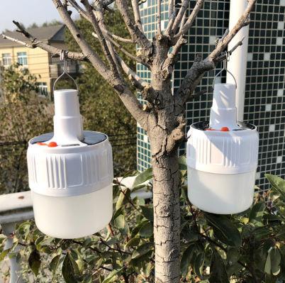 充電式 LED 電球 ランプ ソーラー 充電 ポータブル 緊急 停電 ナイト マーケット ライト 屋外 アウトドア キャンプ 防災 M302_画像6