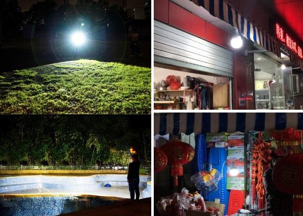 充電式 LED 電球 ランプ ソーラー 充電 ポータブル 緊急 停電 ナイト マーケット ライト 屋外 アウトドア キャンプ 防災 M302_画像2