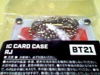 BT21 RJ JIN ジン キム・ソクジン ID CARD CASE IDカードケース パスケース suica PASMO 定期入れ パスモLINE 防弾少年団 BTS 新品_画像3