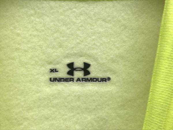 N845-190923-116 UNDER ARMOUR アンダーアーマー UA アーマーストレッチ CG コンプレッション LSモック XLサイズ 蛍光イエロー 未使用_画像3