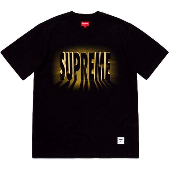 Supreme Tee BLACK 黒 light s/s top M