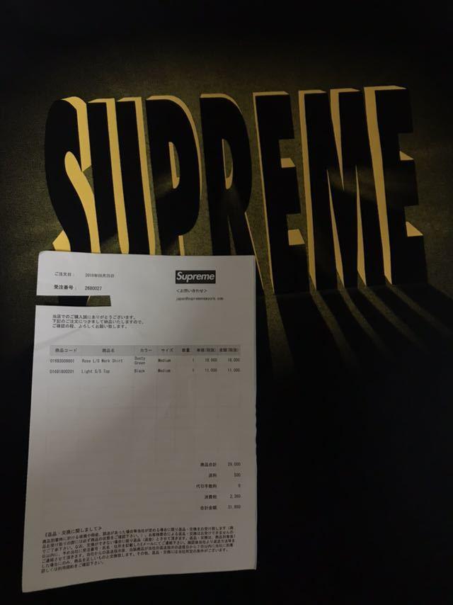 Supreme Tee BLACK 黒 light s/s top M_画像4