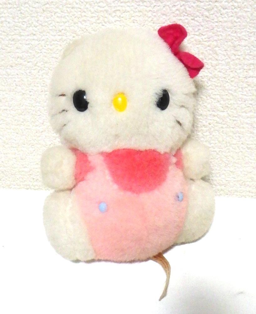 ☆レア☆希少☆昭和レトロ サンリオ キティちゃん キティ ぬいぐるみ 日本製 当時物_画像1