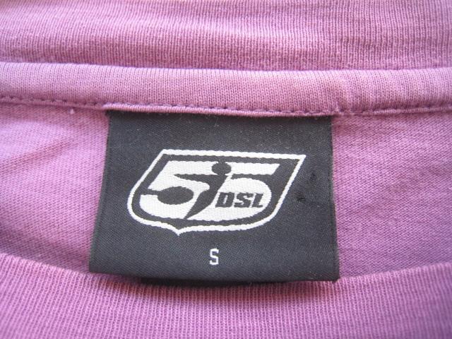 高級!!55DSL DIESEL ディーゼル*ロゴプリント長袖Tシャツ S パープル_画像5