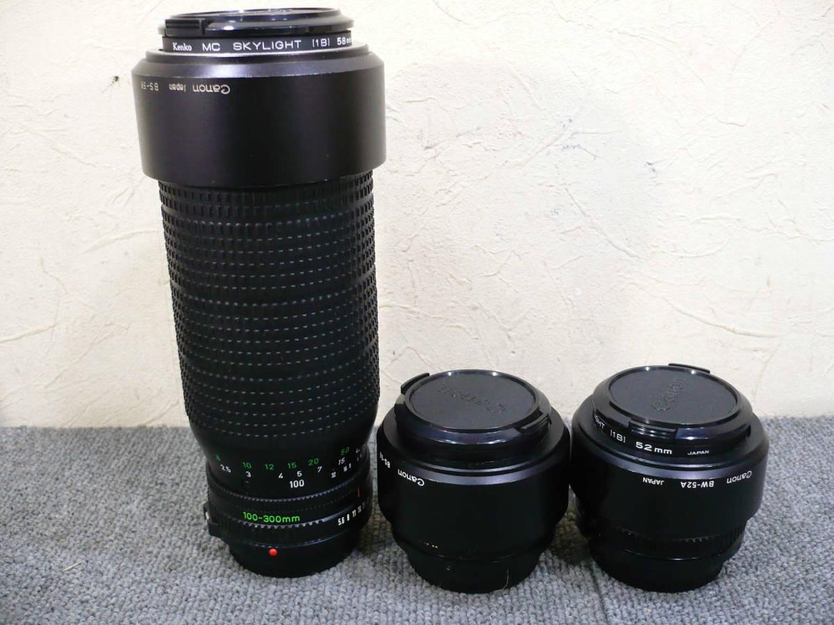 ★ビンテージ★CANON キャノン F-1 後期型 旧F-1 レンズ NEW FD 35mm 50mm 100-300mm_画像8