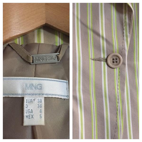 美品 MNG スクールジャケット ストライプ レディース モッズ パンク ライダース ビンテージ 50s60s70s80s90s_画像3
