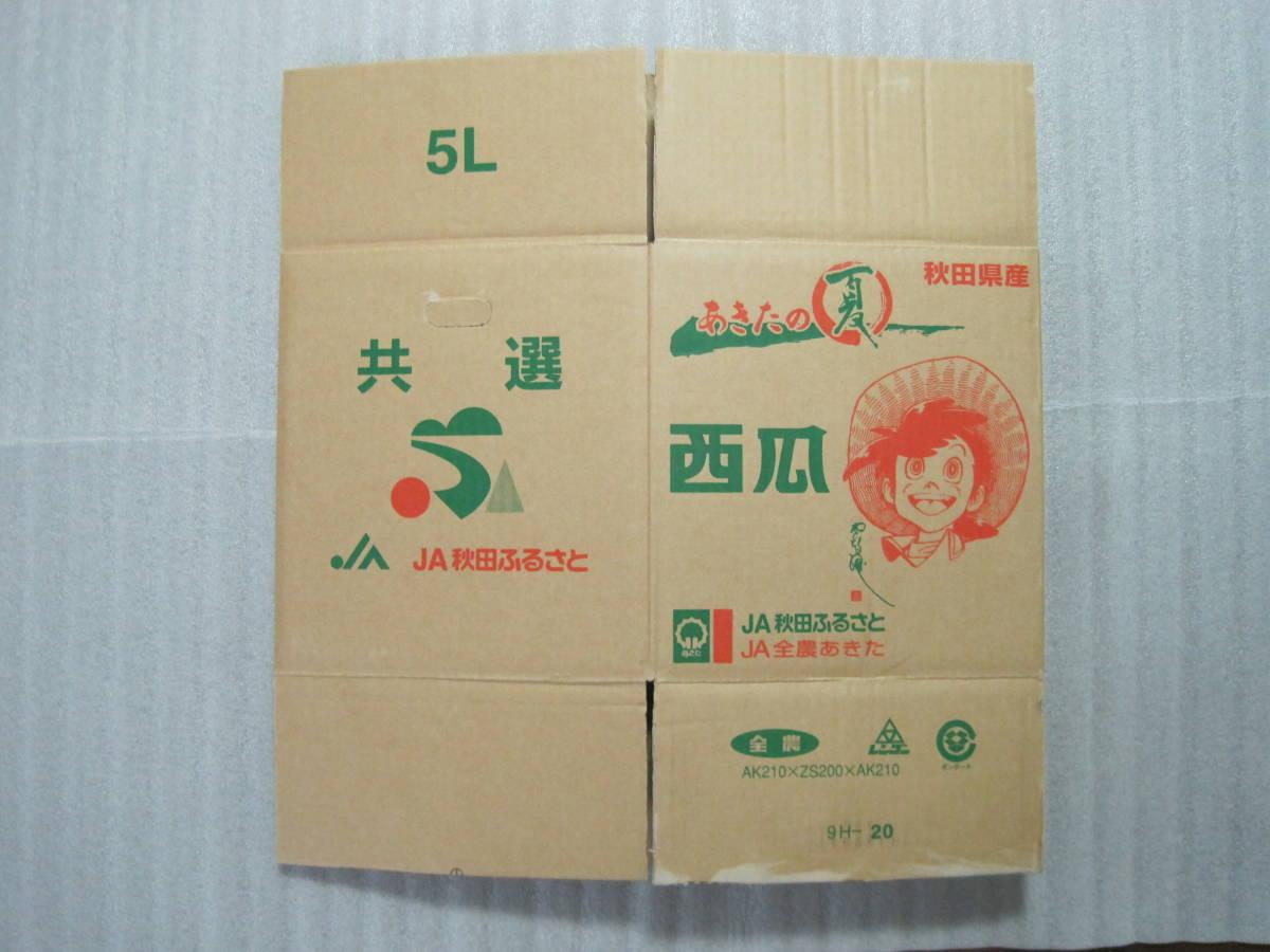 非売品 釣りキチ三平 イラスト入り スイカの箱 5種セット+袋・シール 矢口高雄 <1>_画像4