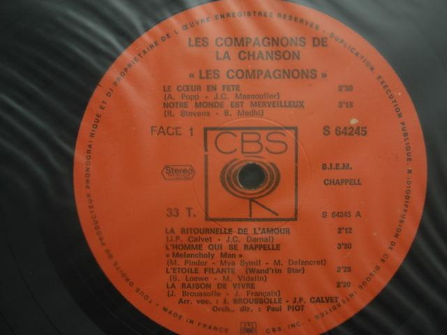 *【LP】Les Compagnons De La Chanson/Les Compagnons (S-64245)(輸入盤)_画像3