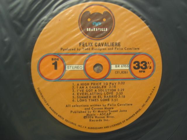 *【LP】Felix Cavaliere/Felix Cavaliere(BR6955)(輸入盤)_画像5