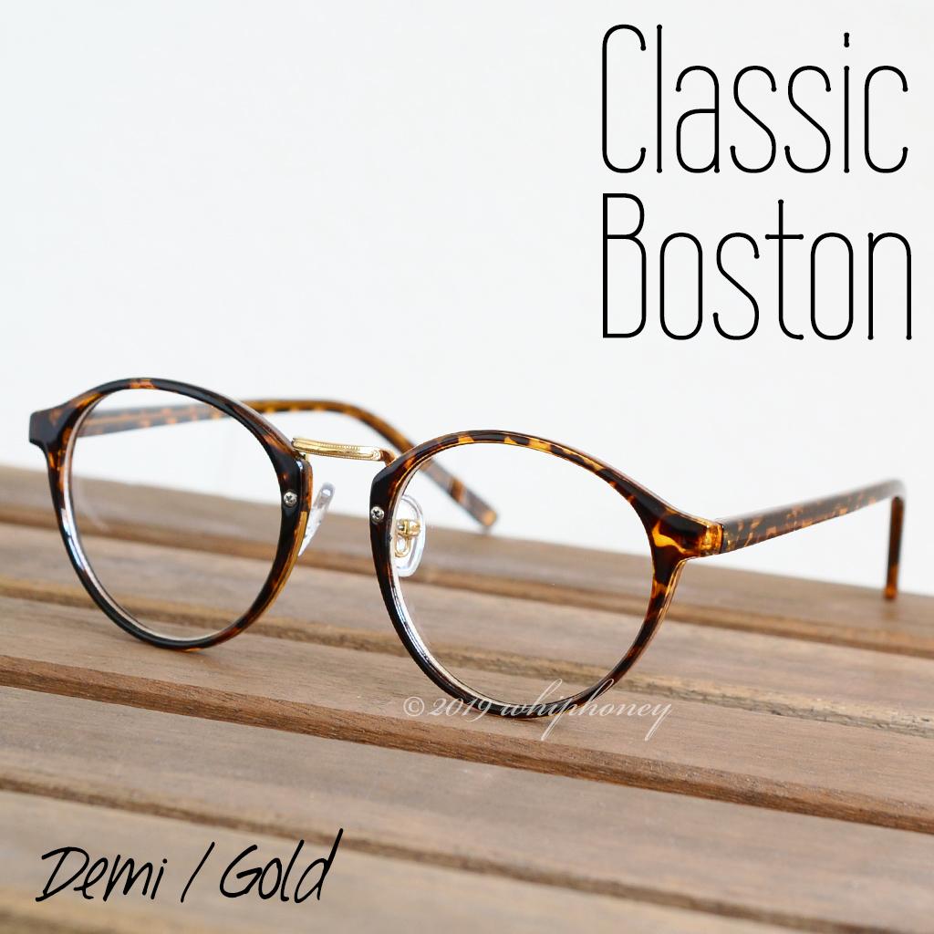 送料無料 レトロクラシックボストンメガネUV 伊達眼鏡 だてめがね デミ べっ甲 ゴールド ブラウン サングラス メンズ レディース_画像1