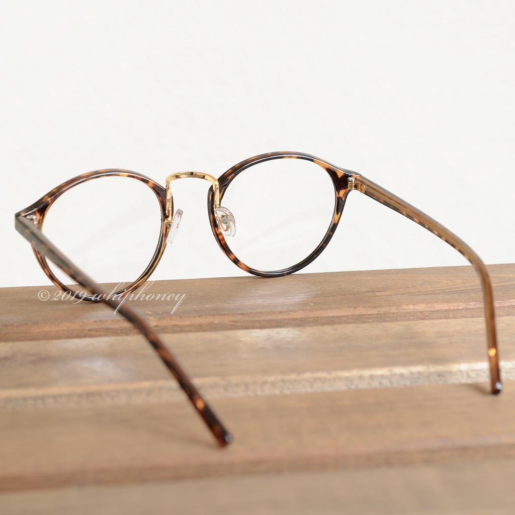 送料無料 レトロクラシックボストンメガネUV 伊達眼鏡 だてめがね デミ べっ甲 ゴールド ブラウン サングラス メンズ レディース_画像4
