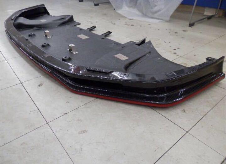 日産純正 R35 GT-R ニスモ フロント カーボン ディフューザー ♪ GTR GT-R nismo ニスモ カーボン チタン R35NO3_画像3