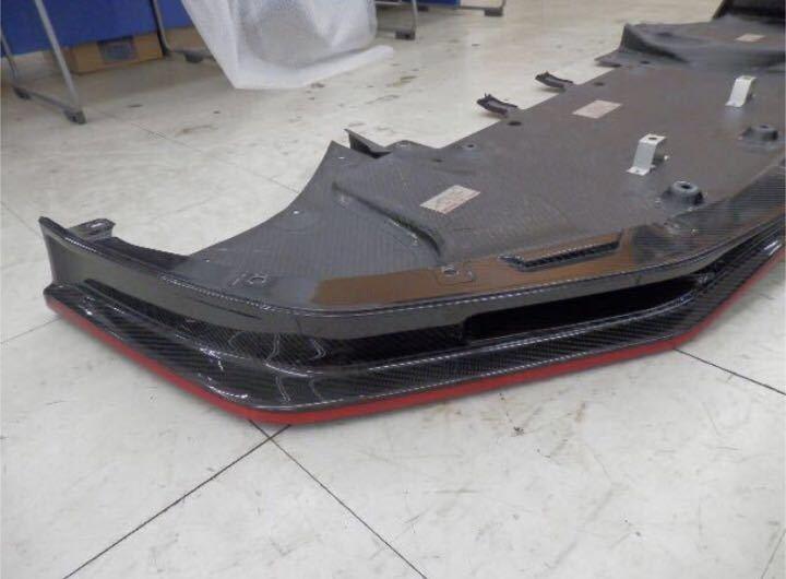 日産純正 R35 GT-R ニスモ フロント カーボン ディフューザー ♪ GTR GT-R nismo ニスモ カーボン チタン R35NO3_状態良いです