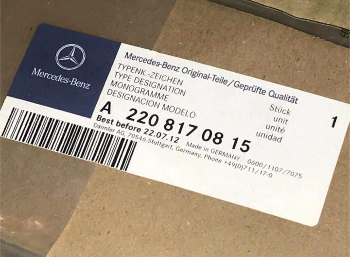 メルセデスベンツ純正 AMG エンブレム 未使用 ♪ Mercedes Benz 他NO127_純正品です