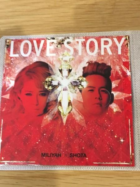 LOVE STORY 加藤ミリヤ×清水翔太 歌詞カードとCDのみでの出品です_画像1