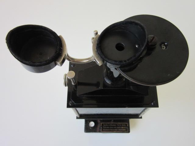 希少 Janke & Kunkel A.G Koeln ドイツ アンティーク 特殊 顕微鏡 木製ケース付 検/ Ernst Leitz Wetzlar ライツ ライカ レンズ_画像4