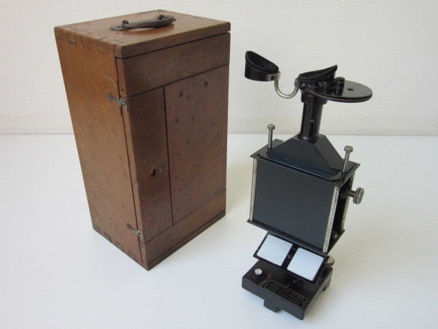 希少 Janke & Kunkel A.G Koeln ドイツ アンティーク 特殊 顕微鏡 木製ケース付 検/ Ernst Leitz Wetzlar ライツ ライカ レンズ_画像1