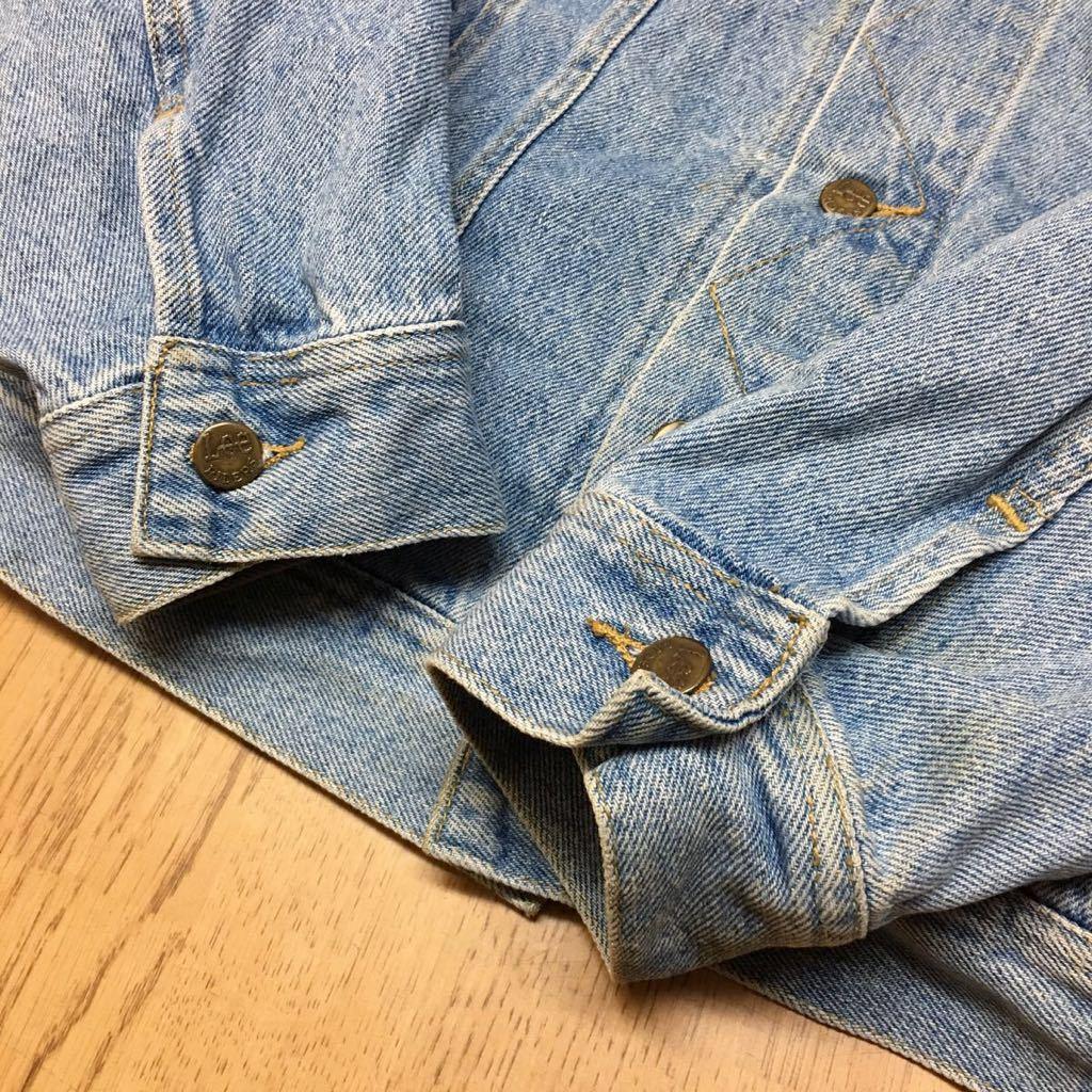 80's Lee ◇ リー // メンズ size L デニムジャケット Gジャン ライトブルー #1 ヴィンテージ アメカジ☆ USA古着_画像5