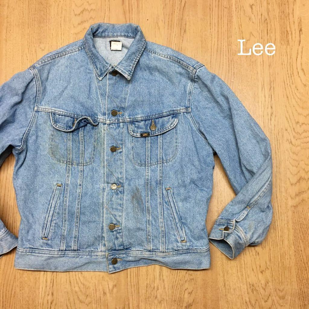 80's Lee ◇ リー // メンズ size L デニムジャケット Gジャン ライトブルー #1 ヴィンテージ アメカジ☆ USA古着_画像1