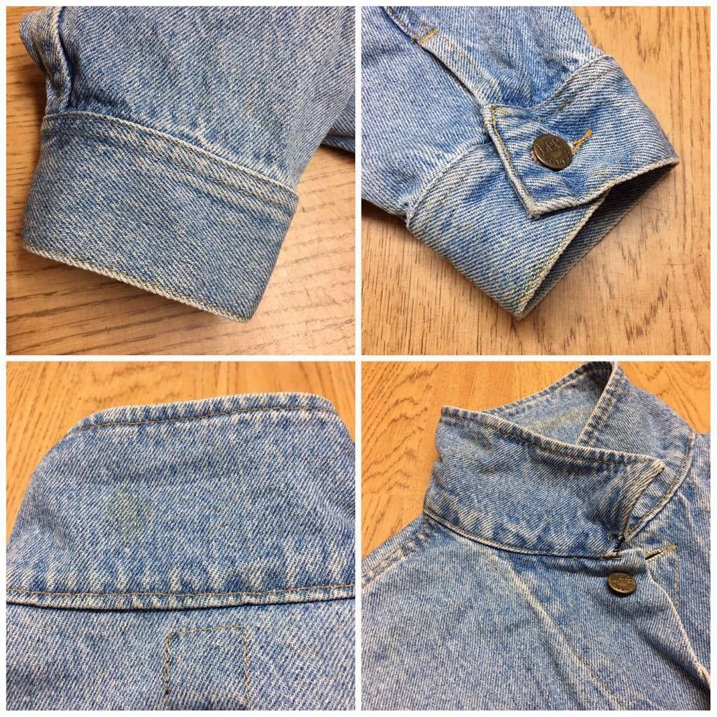 80's Lee ◇ リー // メンズ size L デニムジャケット Gジャン ライトブルー #1 ヴィンテージ アメカジ☆ USA古着_画像8