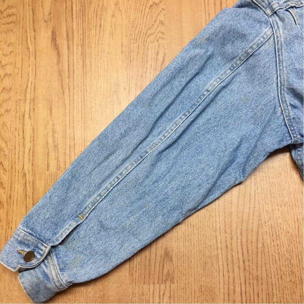 80's Lee ◇ リー // メンズ size L デニムジャケット Gジャン ライトブルー #1 ヴィンテージ アメカジ☆ USA古着_画像7
