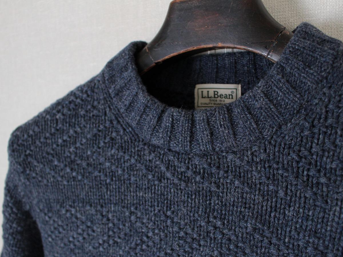 エルエルビーン L.L.BEAN ★ ラム ウールニット クルーネック セーター サイズS/メンズ ケーブル ★_画像4