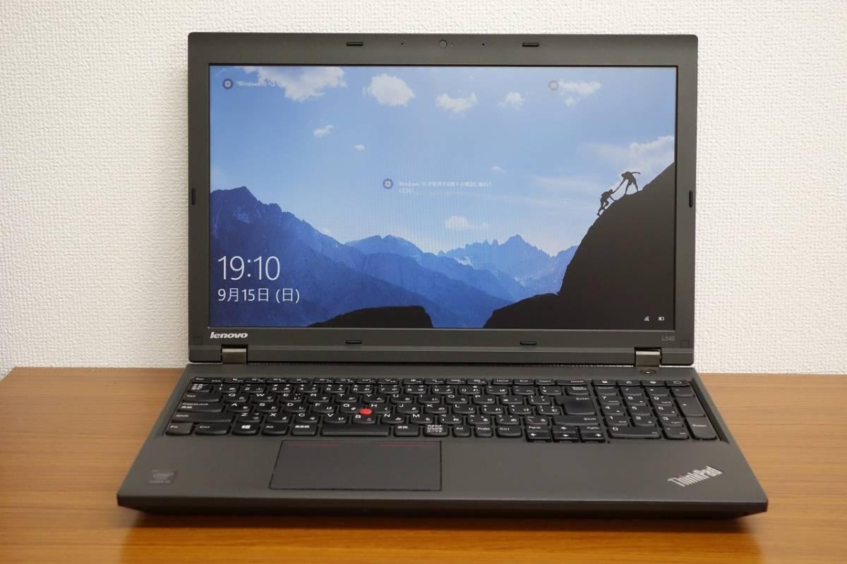 ★ストレージ1.0TB(新品SSD 512GB + HDD 500GB) ★大画面15.6インチ RAM 8.0GB Lenovo ThinkPad L540 Core i5-4200M 2.5GHz (2)