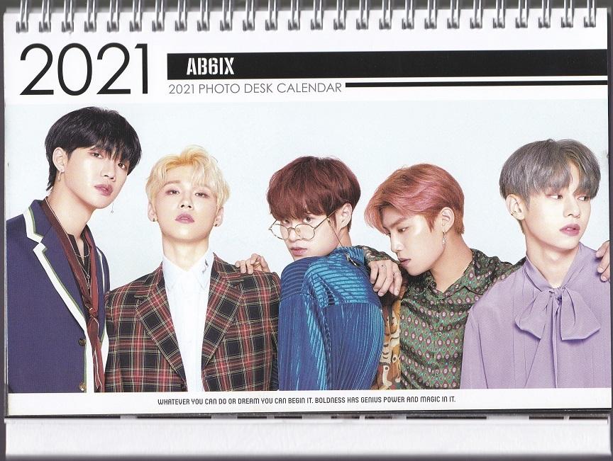 ☆New!■AB6IX/エイビーシックス■2021年度 ホワイト卓上カレンダー☆韓国_画像1