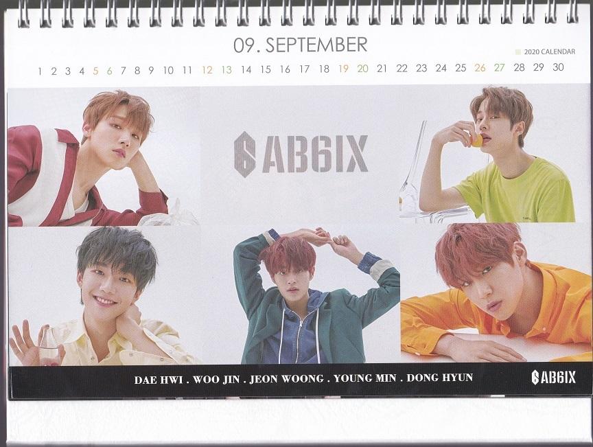 ☆New!■AB6IX/エイビーシックス■2021年度 ホワイト卓上カレンダー☆韓国_画像3